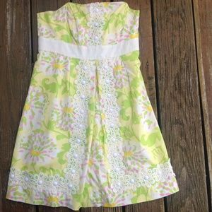 Lilly Pulitzer JUBILEE Green Yellow Floral Dress 2